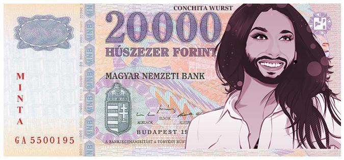 Conchita Wurstot minden húszezresre!