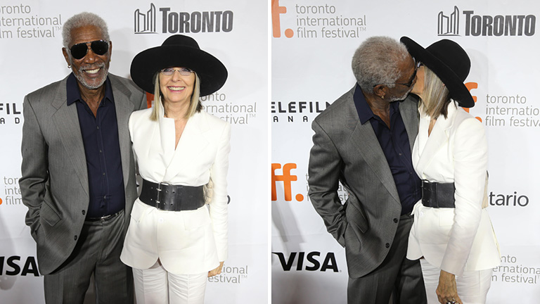 Morgan Freeman és Diane Keaton