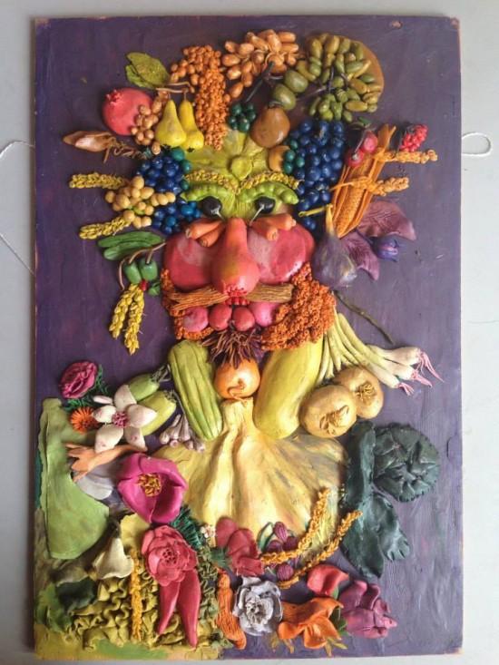 Híres festményeket készít el gyurmából - képek