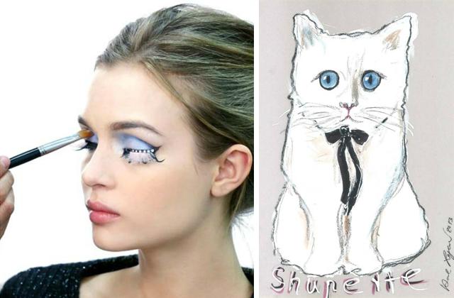 Lagerfeld macskája sminkkollekciót ihletett