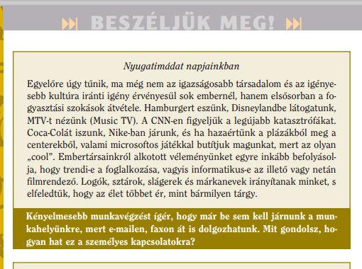 Részlet egy 7. osztályos irodalomkönyvből (Forrás: atlatszo.hu)
