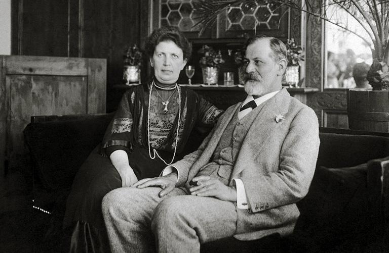 Sigmund Freud és felesége Martha