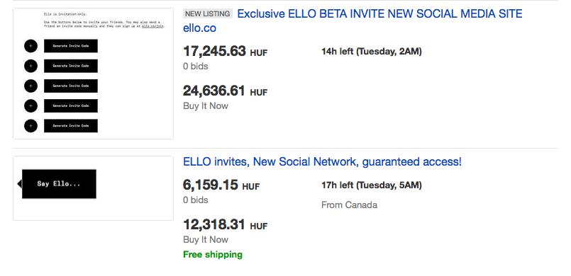 Tele meghívókkal az Ebay, a hiénák rögtön meglátták benne a fantáziát