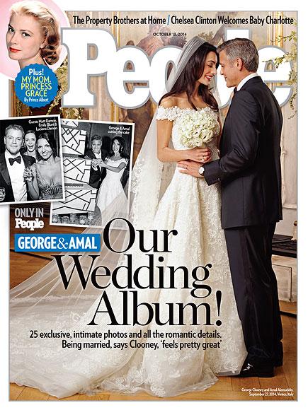 Íme, az első esküvői fotó Geroge Clooney-ékról!