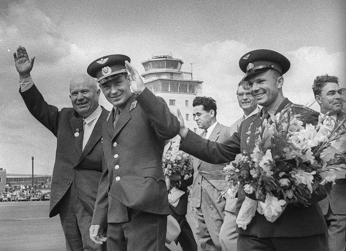 Hruscsov, Tito és Gagarin találkozása, 1961.