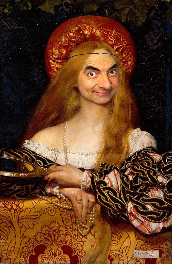 Mr. Bean kifigurázta a legendás festményeket