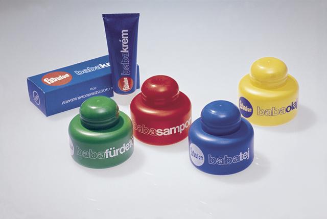Fabulon babaápolási termékcsalád flakonjai (1980)
