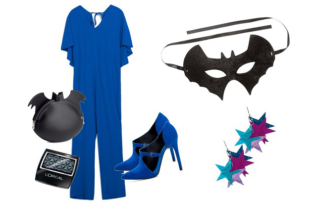 Overál, cipő: Zara, maszk, táska: H&M, fülbevaló: Claire's, szemhéjfesték: L'Oreal