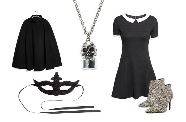 Ruha, maszk : H&M ,poncsó, cipő: Mango, nyaklánc: Claire's