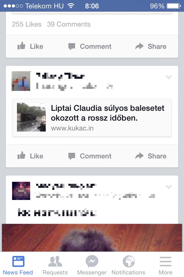 Hazugságot terjesztenek Liptai Claudiáról