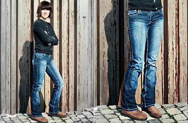 Victoria Beckham for Rock&Republic bootcut farmer - Háda