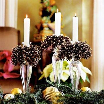 25 dekorációs ötlet fenyőtobozzal