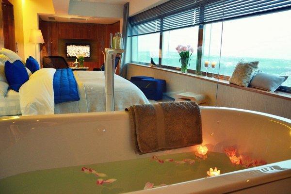 Egy szobás luxushotel a prágai tévétoronyban
