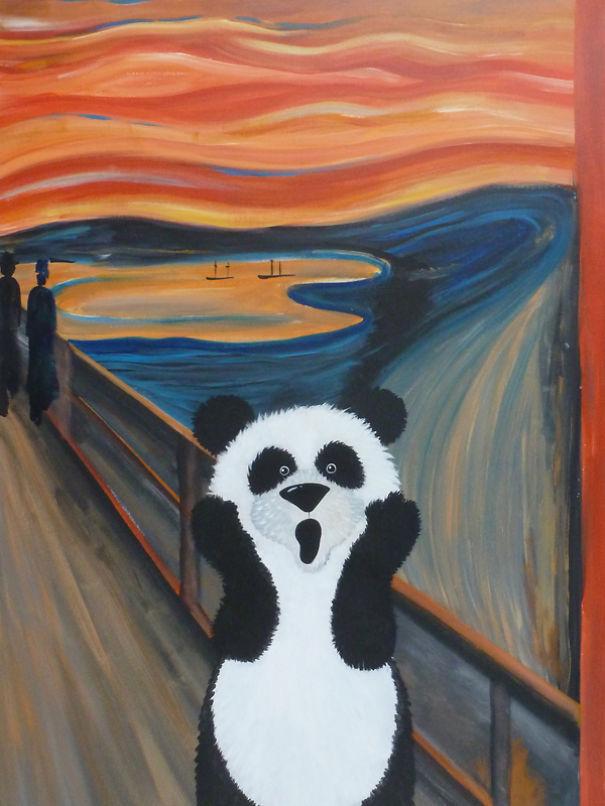 Cuki állatfigurák kerültek a világhírű festményekre - galéria