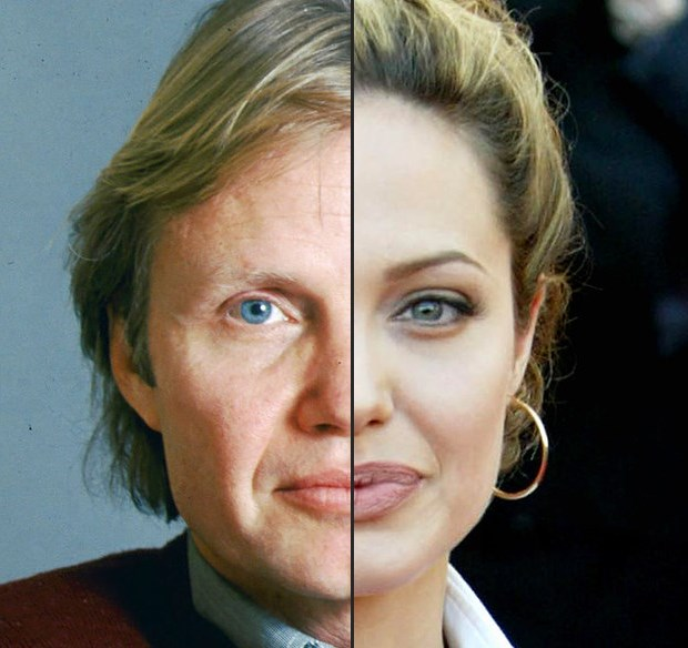 Nem hinnéd, kire hasonlít Angelina Jolie