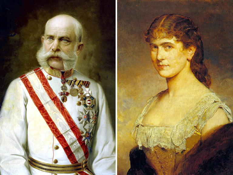 Ferenc József és Schratt Katalin