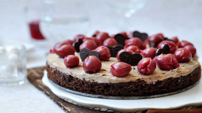 Gesztenyés-meggyes last minute torta