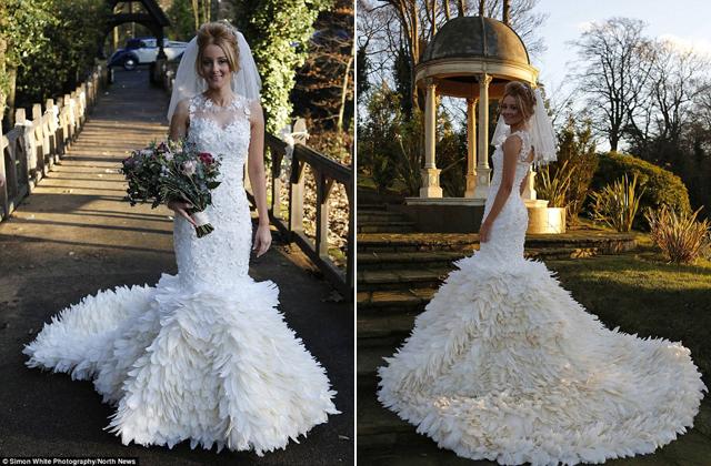 200 óra munkával készítette el az esküvői ruháját az ara