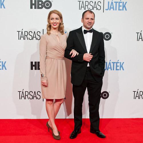 Balsai Mónika és Thuróczy Szabolcs a Társas játék bemutatóján