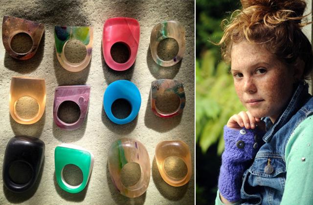 Hazsnált szörfdeszkákból készít ékszereket a 11 éves kislány