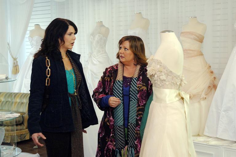 Lauren Graham, Lorelai és Melissa McCarthy, Sookie szerepében a Szívek Szállodájában
