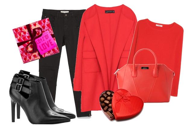 Kabát, nadrág: Zara, pulóver, táska, cipő: Mango, ajándékcsomag: Lush