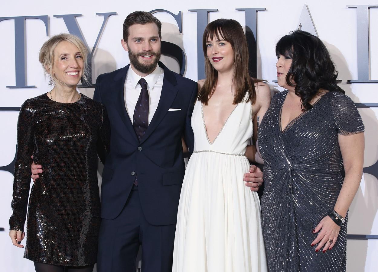 A szürke ötven árnyalata: így ragyogtak a szereplők a londoni premieren