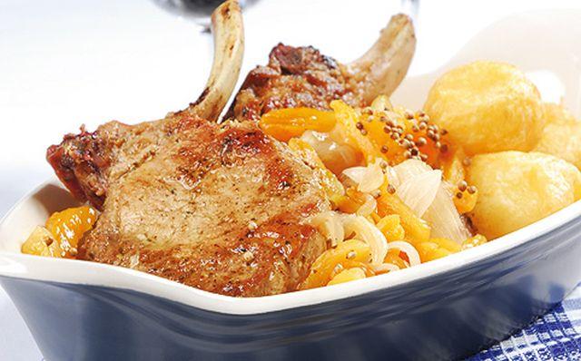 Gyors ebéd: sertéskaraj aszalt barackkal
