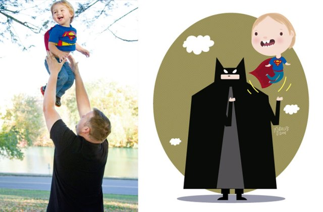 Gyermekfotókról készít imádni való illusztrációkat