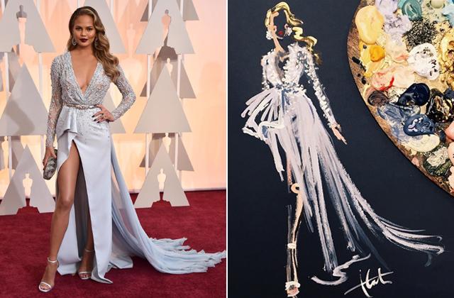 Fültisztító pálcikával rajzolta meg az Oscar-ruhákat