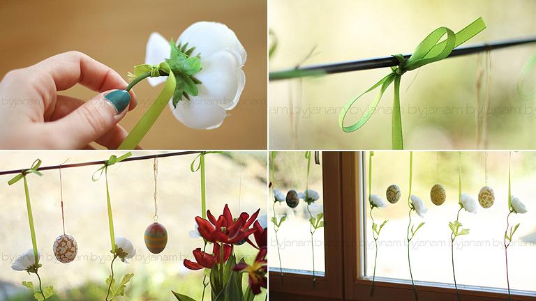 Különleges húsvéti ablakdísz