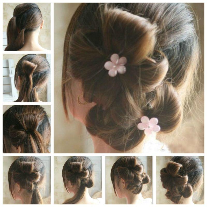 Hogyan készítsünk virágszirom frizurát