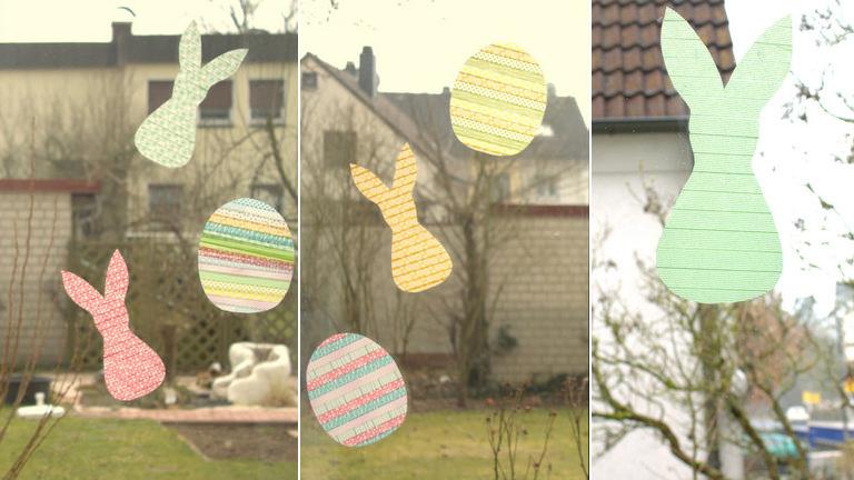 Húsvéti ablakdísz dekortapaszból