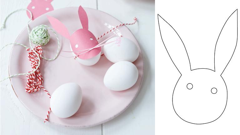 Húsvéti dekoráció papírból: így lesz a tojásból nyúl
