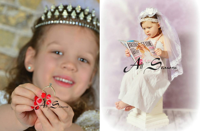 Esküvői fotózást kínálnak kislányoknak