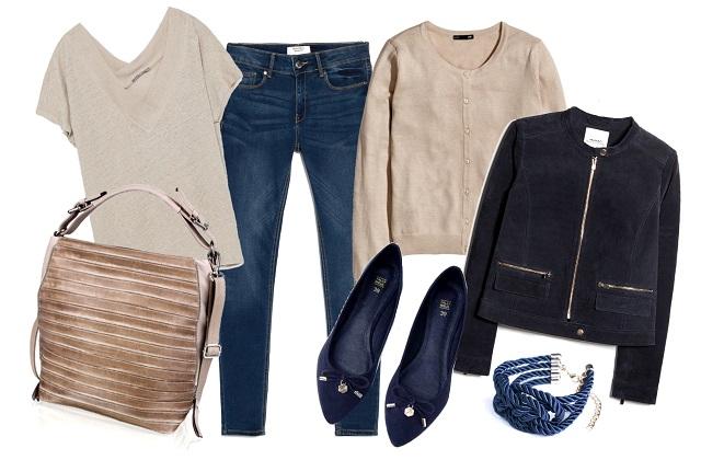 Dzseki, nadrág: Mango, póló: Zara, kardigán: H&M, táska: Humanic, karkötő: Gemini Hungary, cipő: Tally Weijl