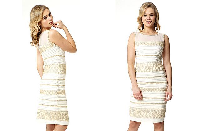 Arany-fehérben is piacra dobták a meghatározhatatlan színű ruhát