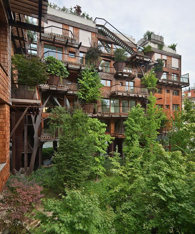 150 élő fa lakik a társasházban - fotók