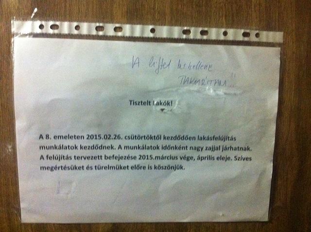 .................. - Üzenetek a lakóktól