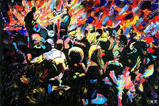 Lenyűgöző képeket fest a vak művész - galéria