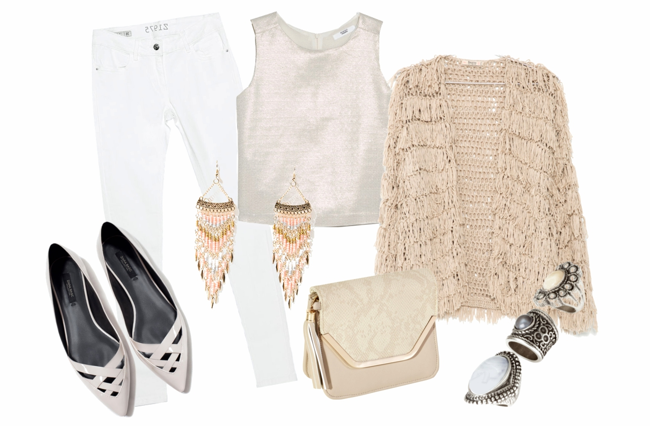 Kardigán, fülhallgató: Bershka, póló: Mango, nadrág, cipő: Zara, táska: Bijou Brigitte, gyűrűk: H&M