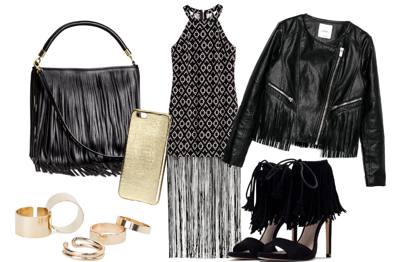 Ruha, táska, mobiltok: H&M, dzseki, gyűrű: Mango, cipő:Zara