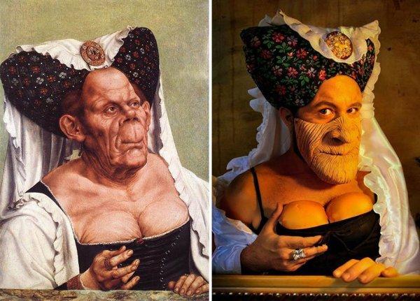 Híres festmények újragondolva - vicces képek