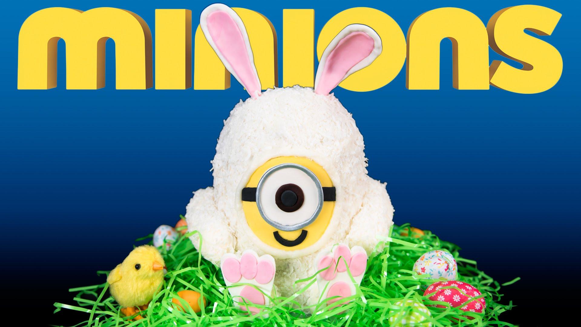 Süss húsvétra cuki minionos nyuszis tortát - videóval