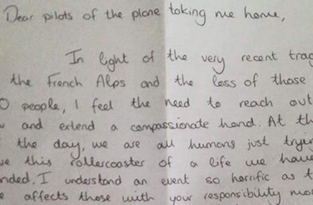 Megható levelet írt a pilótáknak egy utas