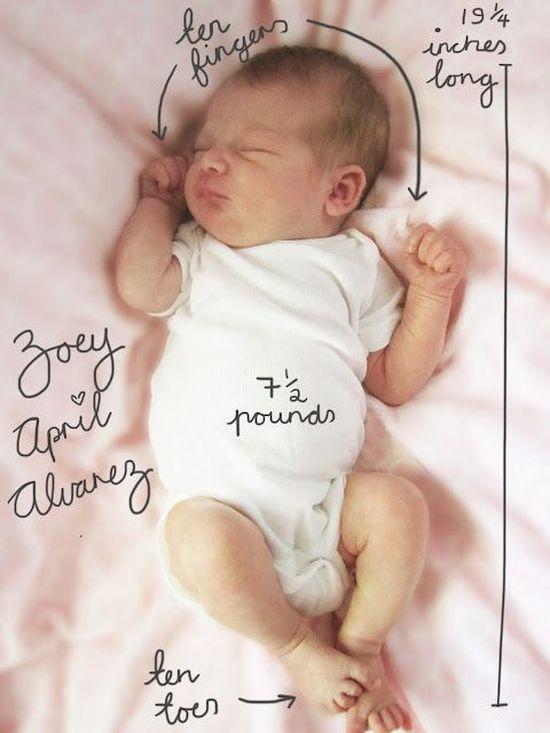 9 aranyos ötlet, amivel szétkürtölheted, hogy megszületett a babád