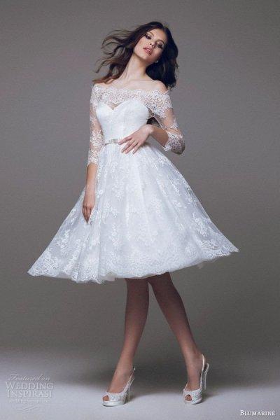 20 csodás rövid menyasszonyi ruha