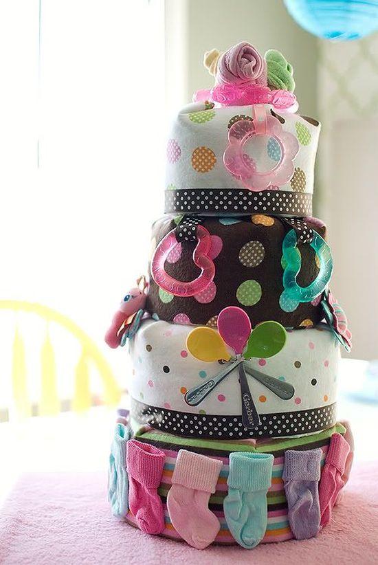 Csináld magad: 10 gyönyörű pelenkatorta a kedvenc kismamádnak