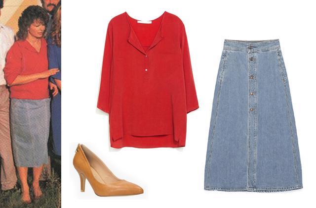 Blúz, szoknya: Zara, cipő: CCC