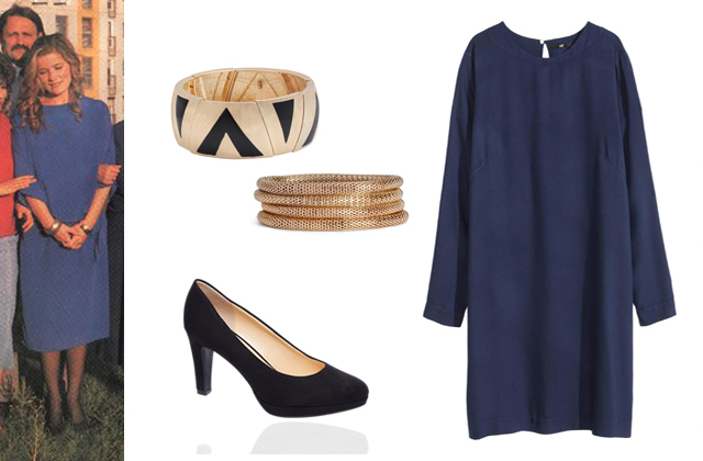 Ruha, soros karkötő: H&M, fekete-arany karkötő: Bijou Brigitte, cipő: Deichmann